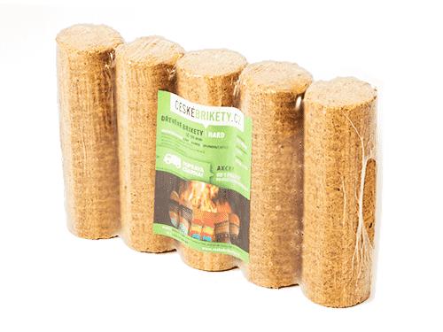 Dřevěné české brikety HARD plná (820 kg)