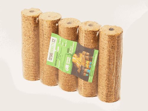 Dřevěné české brikety HARD s dírou (820 kg)