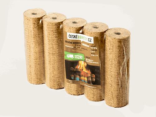Dřevěné české brikety PREMIUM s dírou (820 kg)